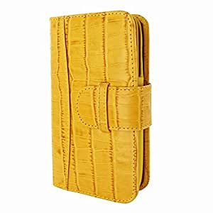 Piel Frama 687 Yellow Crocodile Leather Wallet for Apple iPhone 6 Plus / 6S Plus / 7 Plus / 8 Plus