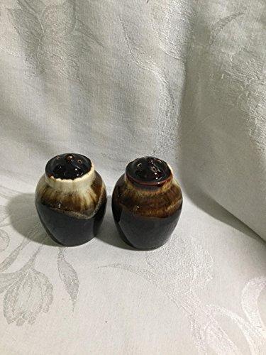 Vintage Clover Brown Drip Salt & Pepper