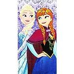 Telo Mare in Spugna di Frozen - Telo Mare in Cotone delle Principesse Anna e Elsa - cm. 70x140