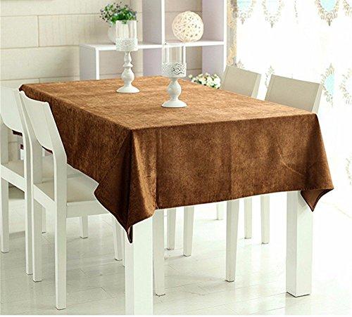 DIDIDD European style coffee table cloth chenille rectangular dust cloth Christmas decorations,140X140cm