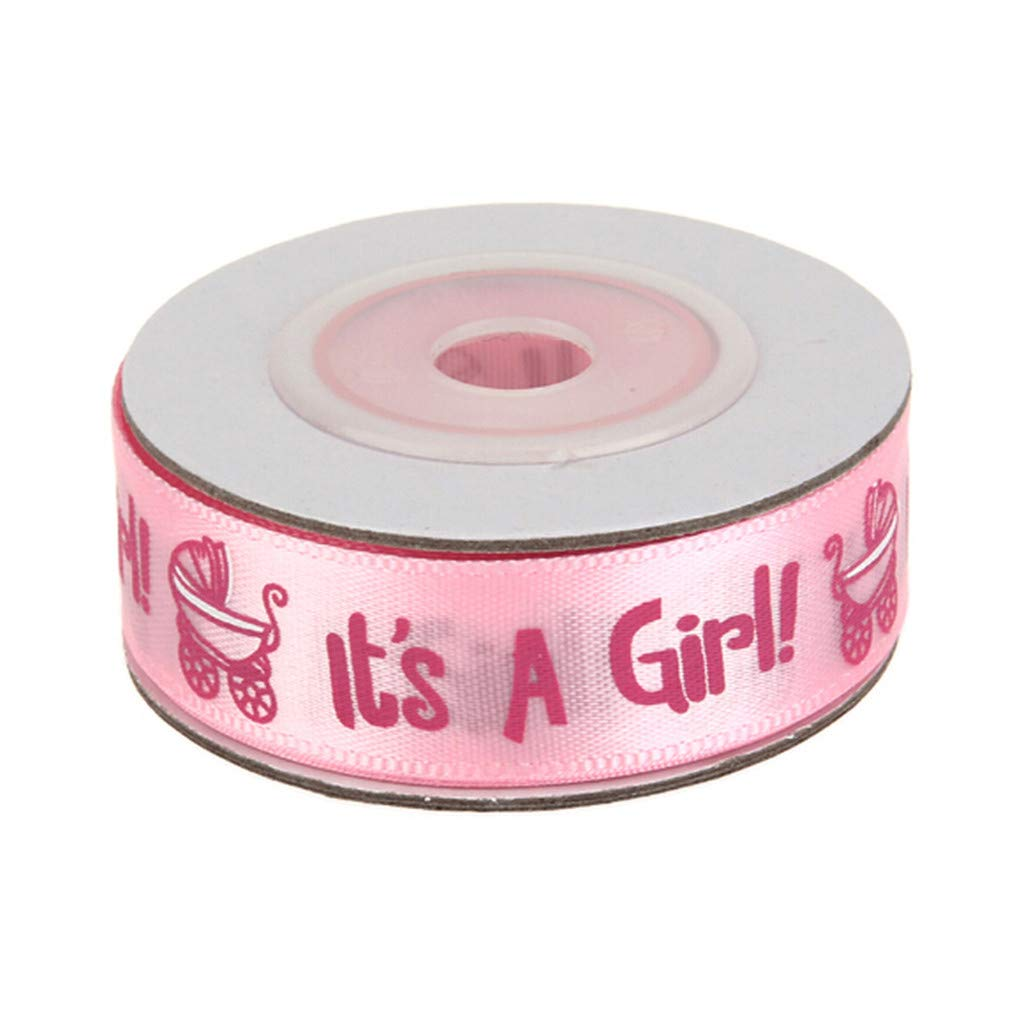 HENGSONG It's A Girl/Boy Pram Baby Shower Birth Celebration Satin Ribbon DIY Gift Wrapping Belt 15mm,Blue Boy mei_mei9 HENGSONG991629133UK