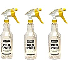 Harris Professional Spray Bottle 32oz (3-Pack), All-Purpose with Clear Finish, Pressurized Sprayer, Adjustable Nozzle and Measurements