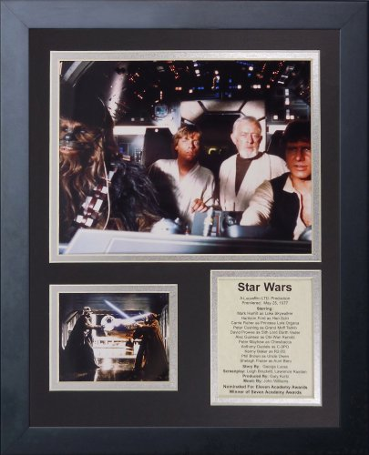 legends never die star wars action framed photo collage 11 by 14 inch
