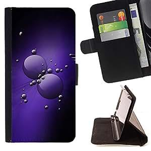 - Purple Cells/ Personalizada del estilo del dise???¡¯???¡Ào de la PU Caso de encargo del cuero del tir???¡¯????n del s - Cao - For HTC One M7