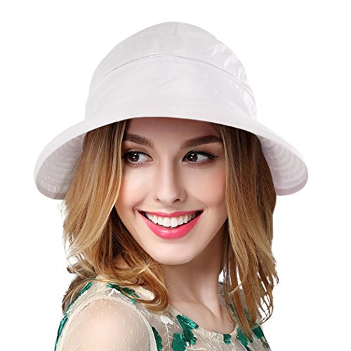 1b19655d5a7 Eqoba Women s Outdoors Spring Summer 2 in 1 Adjustable Velcro Bowtie Visor  Hat