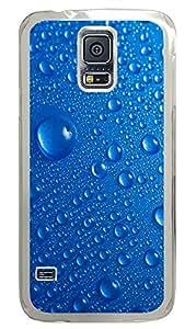 Samsung Galaxy S5 Beautiful blue water drops PC Custom Samsung Galaxy S5 Case Cover Transparent