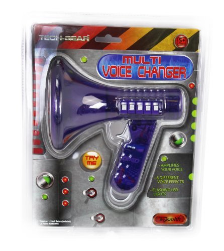Multi Voice Changer by Toysmith: Change your voice with 8 different voice modifiers - Kids Toy (Purple) by Toysmith