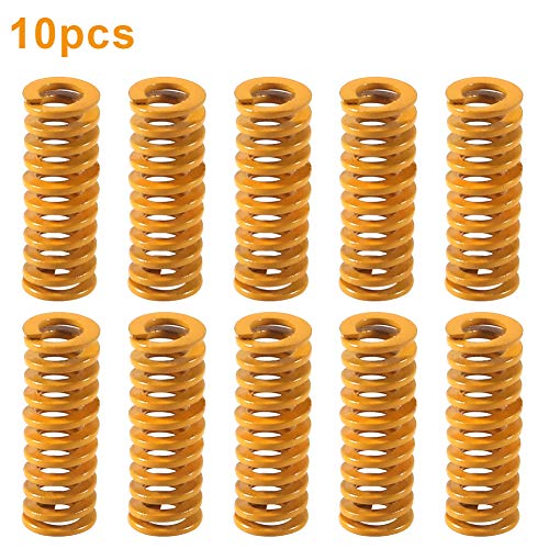 3D Printer Motherboard Accessories 0.31 in OD 0.78 in Length Compression Springs Light Load for Creality CR-10 10S S4 Ender 3 Heatbed Springs Bottom Connect Leveling - 10 Pack