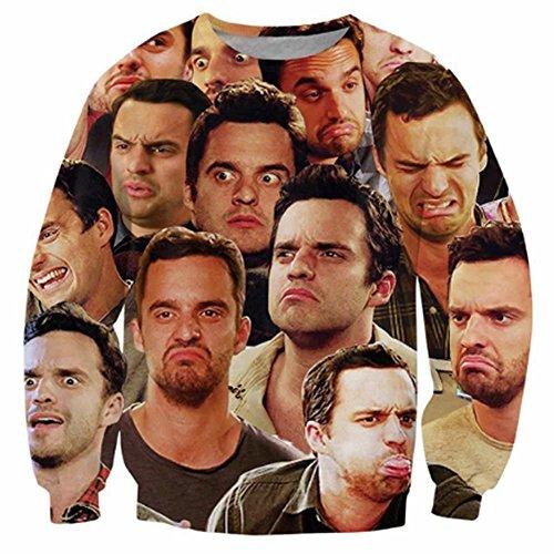 Chiclook Cool Nick Miller Paparazzi 3D Sweater Funny Sweatshirt Hoodies Clothing Unisex Men Sport Tracksuit Outwear