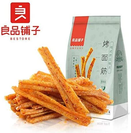 中国名物 おつまみ 大人気 良品铺子 烤面筋 香辣味 休闲小吃 200g