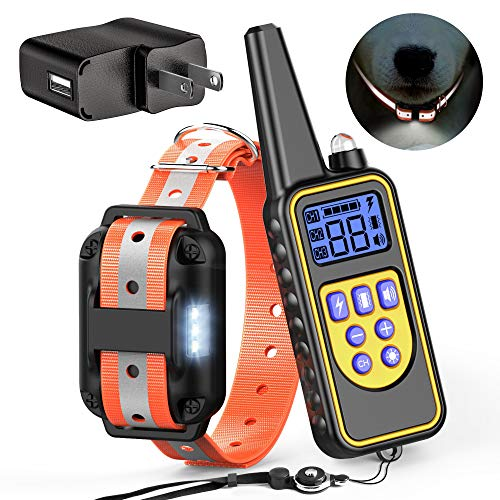 FunniPets Dog Training Collar, 2600ft Waterproof Dog Shock Collar with Remote for Medium and Large Dogs, Safe Reflective…