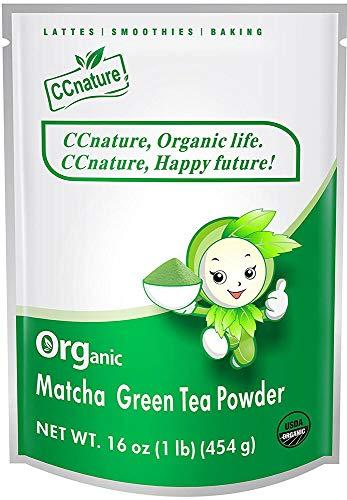 ccnature 2019 454g Organic Green Tea Powder 16oz Ceremonial Grade Matcha 16 oz F68884 (Best Green Drink Powder 2019)