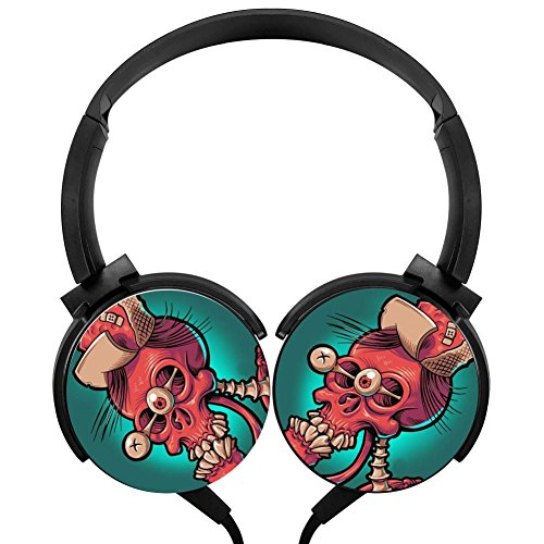 Skeleton Fright Stereo Gaming Headphone Rotation Axis Design Bass Surround Lightweight PC Headset Wired - Skeleton Fright Light