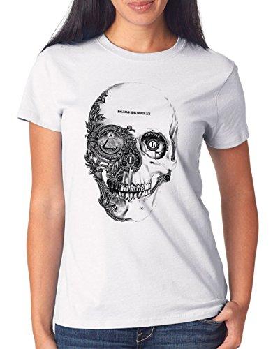 Dollar Skull T-Shirt Girls White Certified Freak