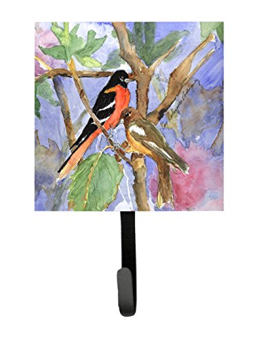 Caroline's Treasures KR9026SH4 Bird-Baltimore Oriole Leash or Key Holder, Small, Multicolor