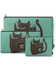 Society6 World Domination For Cats (Green) Carry-All Pouch