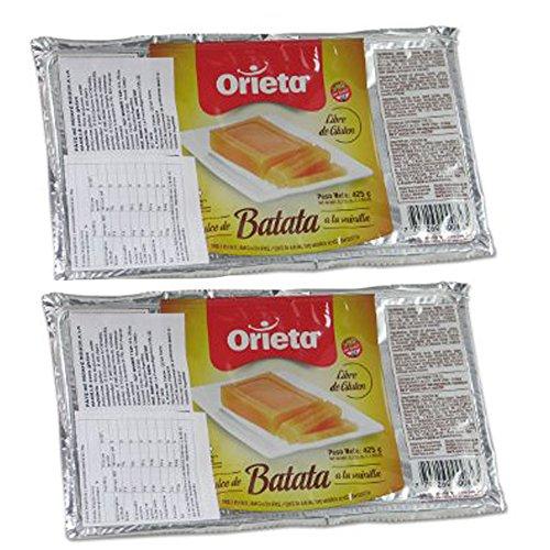 2 Pack Orieta Dulce De Batata Sweet Potato Jam Vanilla Paste Spread Jelly 425G