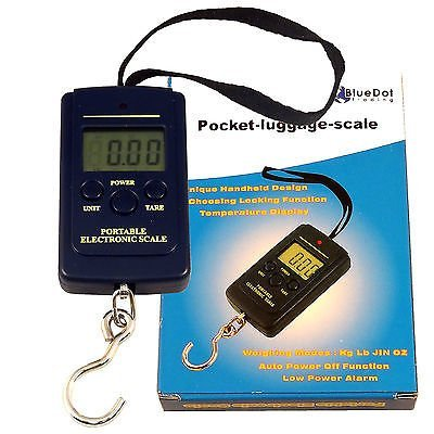 LCD Digital Luggage Pocket Scale Portable Hanging Weight Electronic Escala Bascula