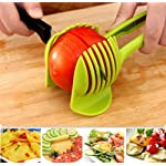 """Laytek Tomato Slicer, Multi-functional Handheld Tomato Round Slicer, Fruit Vegetable Cutter, Lemon Shredders Slicer, With the Special Hook 12 Material : ABS Mold Size :18.5 x 8 CM /7.3 """"X 3.1"""" Package Includes : 1 x HandHeld FruitS Round Slicer With this tomato slicer,you'll create perfect tomato slices everytime,This kind of fruit and vegetable slice assistant design novel, beautiful, bright color, easy to operate, safe and reliable. Add the tomato slicer along each gap from the top down the you could cut it into pieces"""