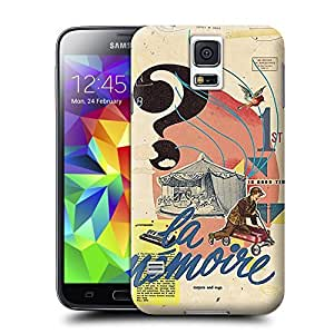 Xuey 103 In-Good-Time-Muharrem-Cetin-retro-style-collage-design for Samsung Galaxy S5 Case- Unique design allows easy access to all buttons, controls and ports