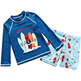 Boys Two Piece Rachguard Swimsuit Catoon Sun Protection Quick Dry Sunsuit