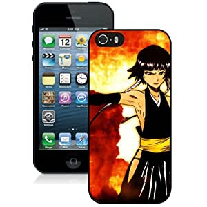 Popular And Unique Designed Cover Case For iPhone 5 With Bleach Girl Gesture Dress Background black Phone Case BY icecream design