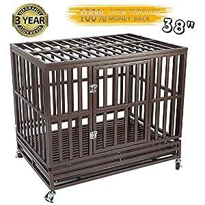 7. Gelizon Heavy Duty Metal Dog Cage