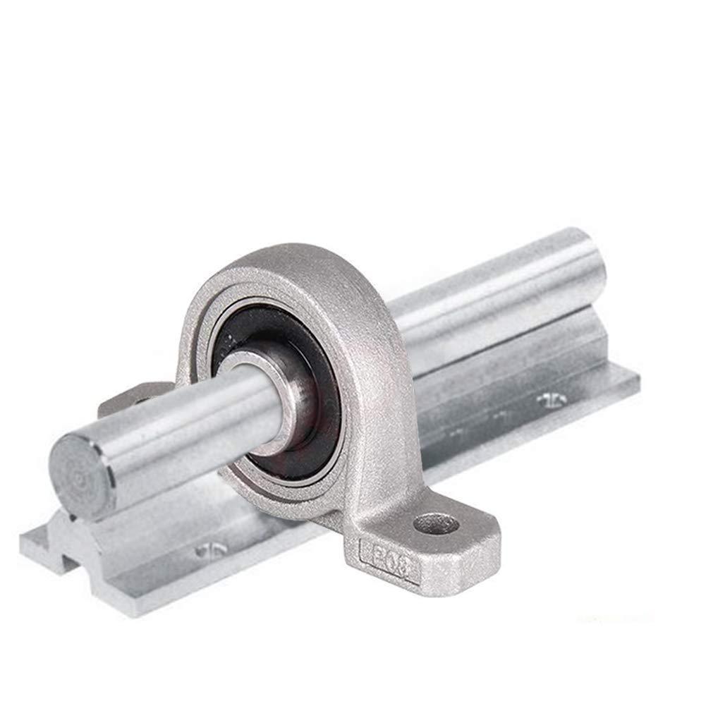55x 30mm Cuscinetto Supporto Albero BETOY 4 pezzi 8mm Cuscinetto In Lega Di Zinco Forte e Durevole Cuscinetto a Sfera per Mantenere e Sostituire le Stampanti 3D Argento