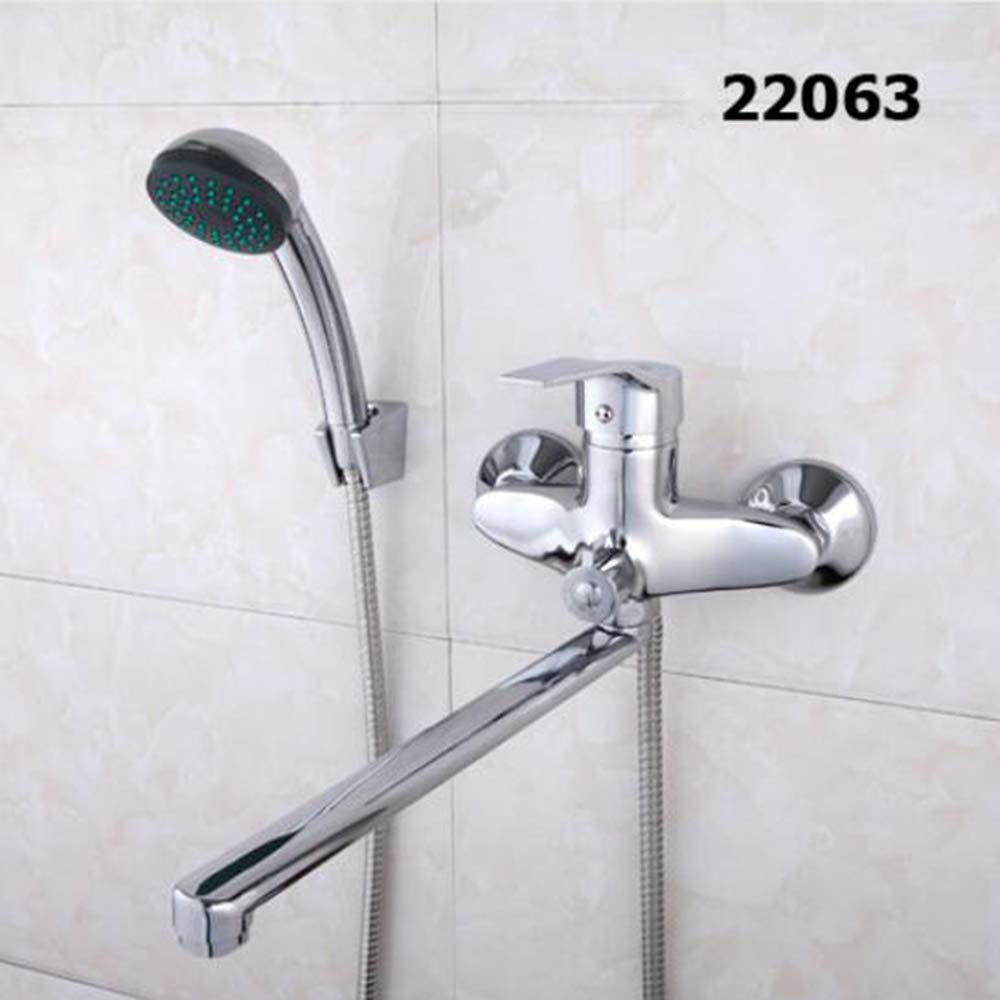 22063 A Set 30cm Length Outlet redated Brass Body Bathroom Shower Faucet Four Handle Options Bathtub Faucet Bath Water Mixer,22004