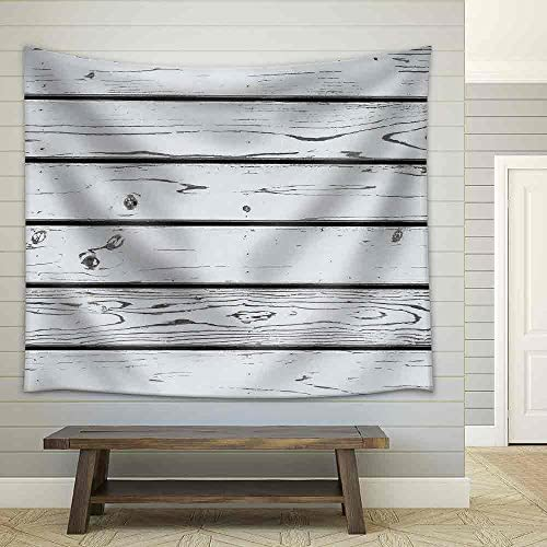White Wood Plank Wall Texture Background Fabric Wall
