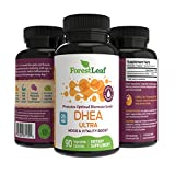 DHEA 25mg Daily Supplement for Men and Women – Promotes Optimal Hormone Level - Mood, Vitality and Physical Performance Boost - 90 Vegetable Capsules – by ForestLeaf