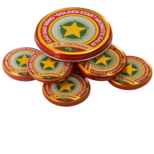 4 Grams x 10 packs of Golden Star Balm (Cao Sao Vang) - Unique Vietnamese Balm Oint - Ointment Aromatic