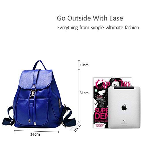 bag style bag leather pu ladies schoolbag backpack shoulder Travel amp;DORIS trend casual female NICOLE Sapphire new qzTx1E