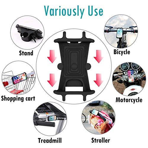 Soporte Movil Bici [2020 Diseño Desmontable], Toolove Bicicleta Soporte de Teléfono 360° Rotación, Anti Vibración Prevención, Soporte Universal Manillar de Silicona para 4.5-6.5 Inch Smartphones