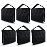 6-Pack Photographic Sand Bag, Black and Gray Stripe, Video and Photo Studio Equipment