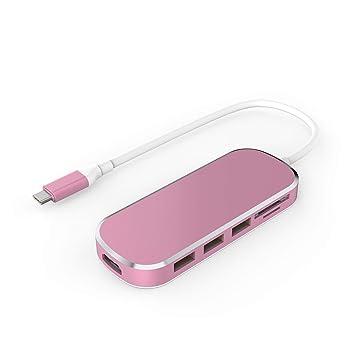 HUB USB C 6 en 1 Adaptador USB Tipo C a HDMI Concentrador ...