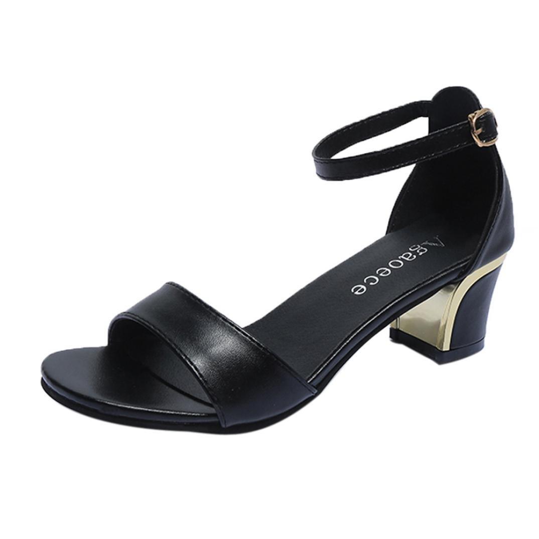 Covermason Verano Mujer Zapatos Bombas de punta estrecha Zapatos Tacones altos Zapatos de barco Zapatos de boda(38 EU, Negro): Amazon.es: Ropa y accesorios