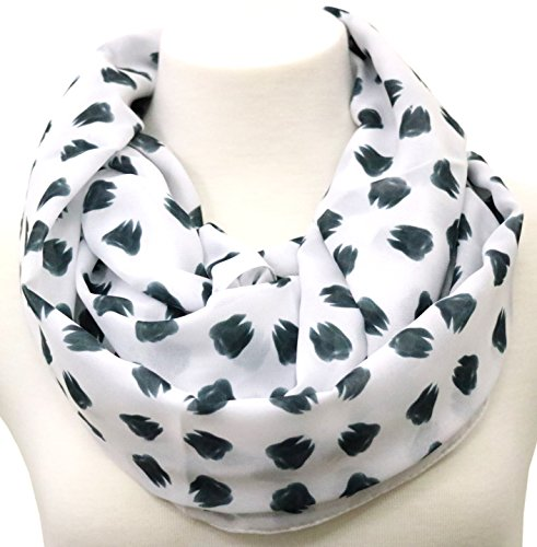 Handmade Dentist Scarf Gift idea for dentist her birthday present White infinity scarf