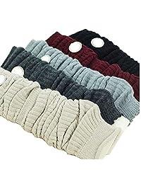 Luckystaryuan ® Cyber Monday Women Set of 3 Wool Knit Leg Warmer Boot Socks