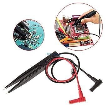 SMD Test Tweezers Meter Clip Probes for Resistor Multimeter Capacitor