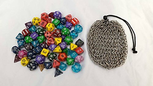 Stainless Steel Chainmail Dice Bag - Large