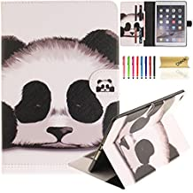 iPad Air 2 Case, iPad 6 Case, Dteck(TM) Pretty Cute Cartoon Flip Kickstand Case with {Card Money Slots} Full Body Protection Premium Synthetic Leather Wallet Cover for Apple iPad Air 2-Cute Panda