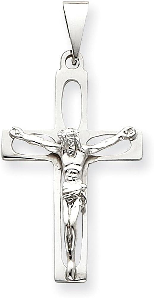 Lex /& Lu 14k White Gold Crucifix Pendant LAL73861