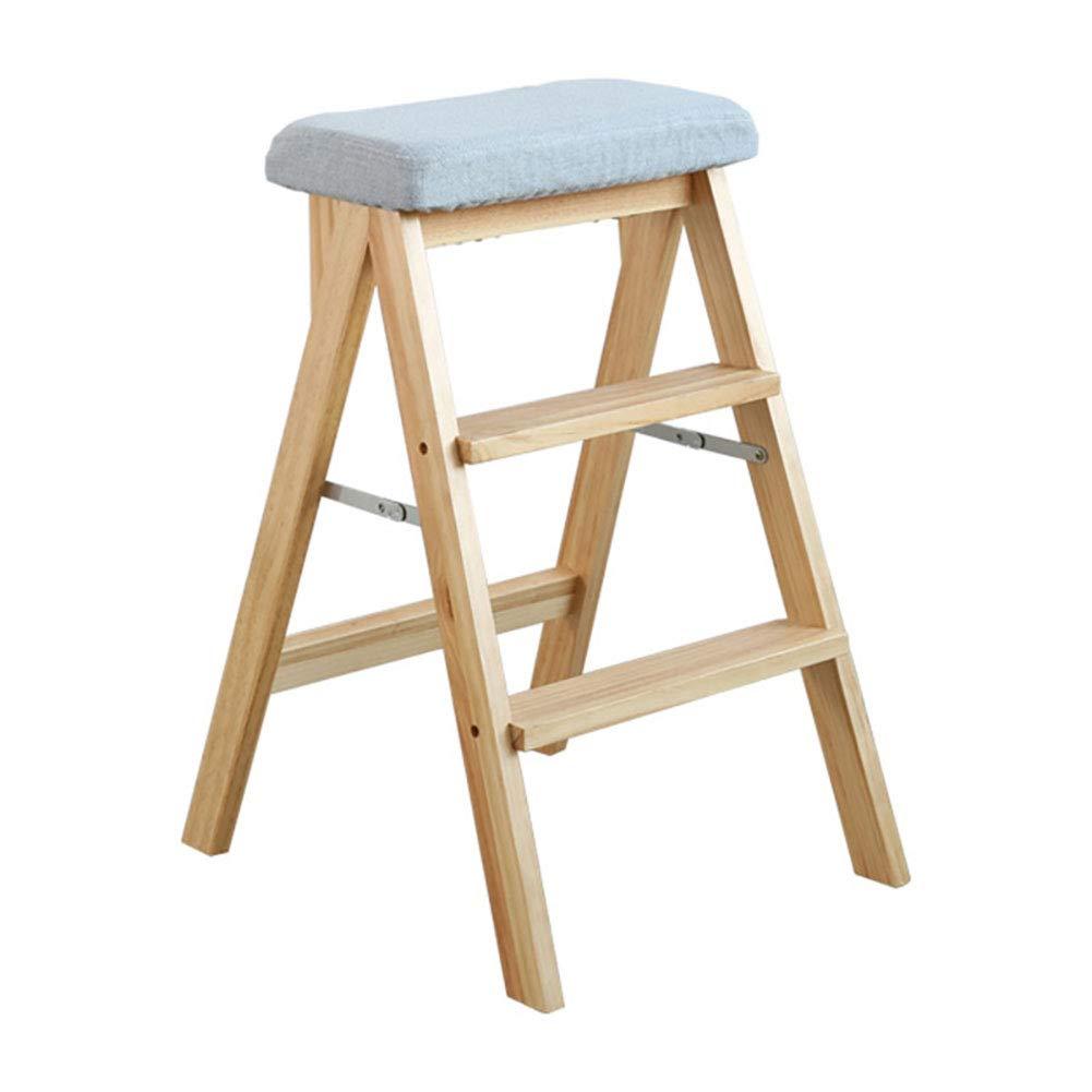 踏み台 折りたたみステップのスツール、大人と高齢者のための3つのステップ、330ポンドの容量、木製の木のステップのはしご、リムーバブルカバー、16.5×19×25インチ (色 : E) B07K486Y4F E