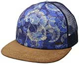 Roxy Juniors Once for All Trucker Hat, Perpetual Flower Blue Print, One Size
