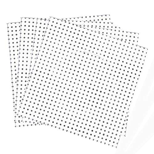 Renba Large Clear Pegboards Kits,5mm Fuse Beads Boards(8 Pieces)