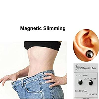 Aigemi 2 Pairs Bio Weight Loss Earrings Stimulating Acupoints Earring Magnetic Therapy