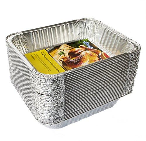 eHomeA2Z Aluminum Pans Half Size Heavy Duty (30 Pack) - 9