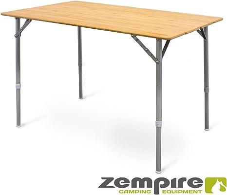 Zempire XXL Diseño Camping bambú Tablero de Mesa Mesa Plegable ...