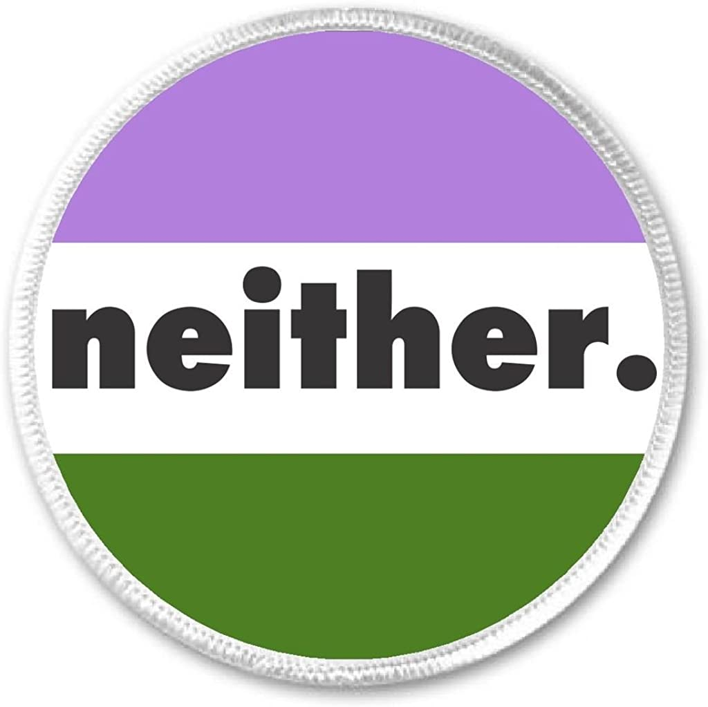 Genderqueer Non-Binary Gender Queer Expansive Flag NEITHER 3 Sew On Patch